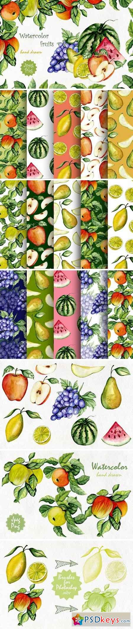 Watercolor fruits 542760