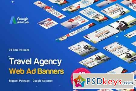 Travel Agency Banner Ads - 48 PSD [03 Sets]