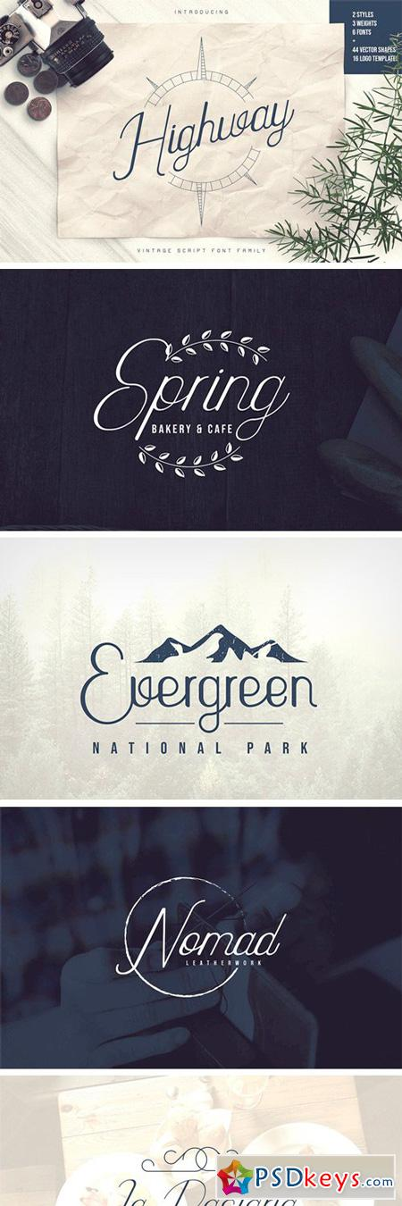 Highway Font Family