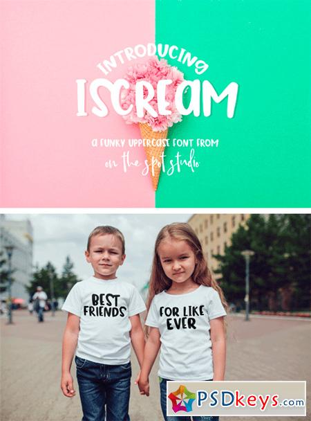iScream - A Fun and Funky Uppercase Font 38260