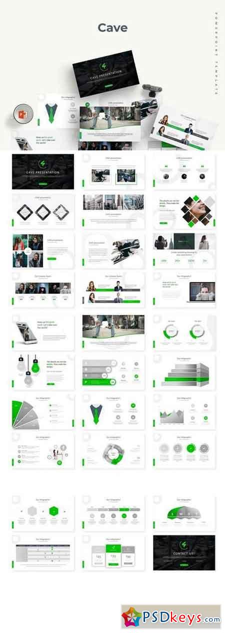 Cave - Powerpoint, Keynote and Google Sliders Template