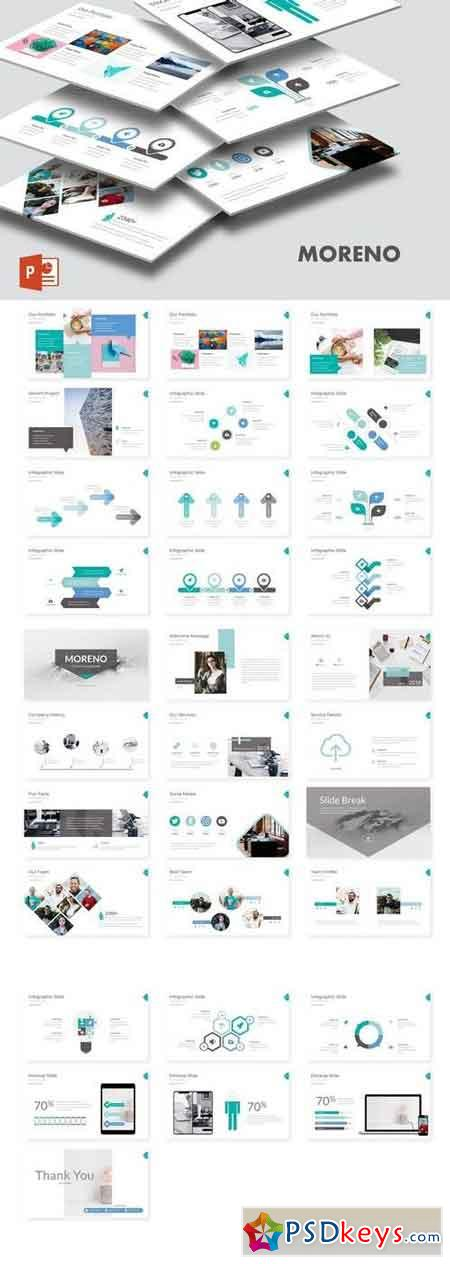 Moreno - Powerpoint, Keynote and Google Sliders Template