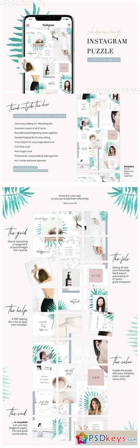 Charming Instagram Puzzle Template 2653769