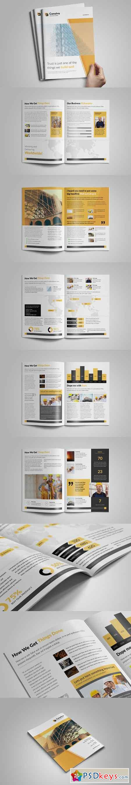 Construction A4 Brochure - InDesign 2813779