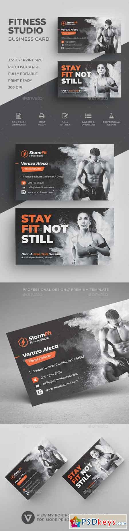 Fitness Business Card 22510382