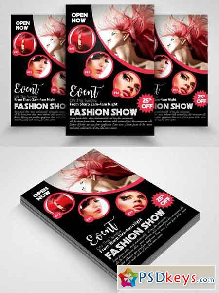 Fashion Magazine Flyer Template 2580610