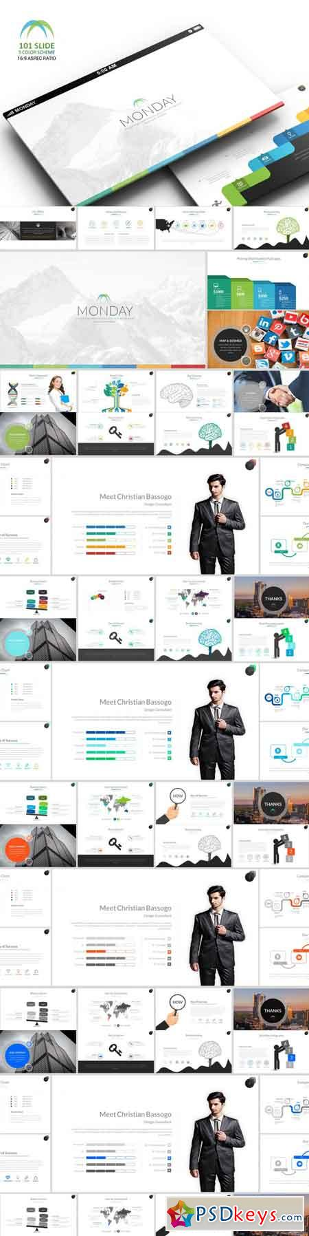 Monday Powerpoint Template 3485286