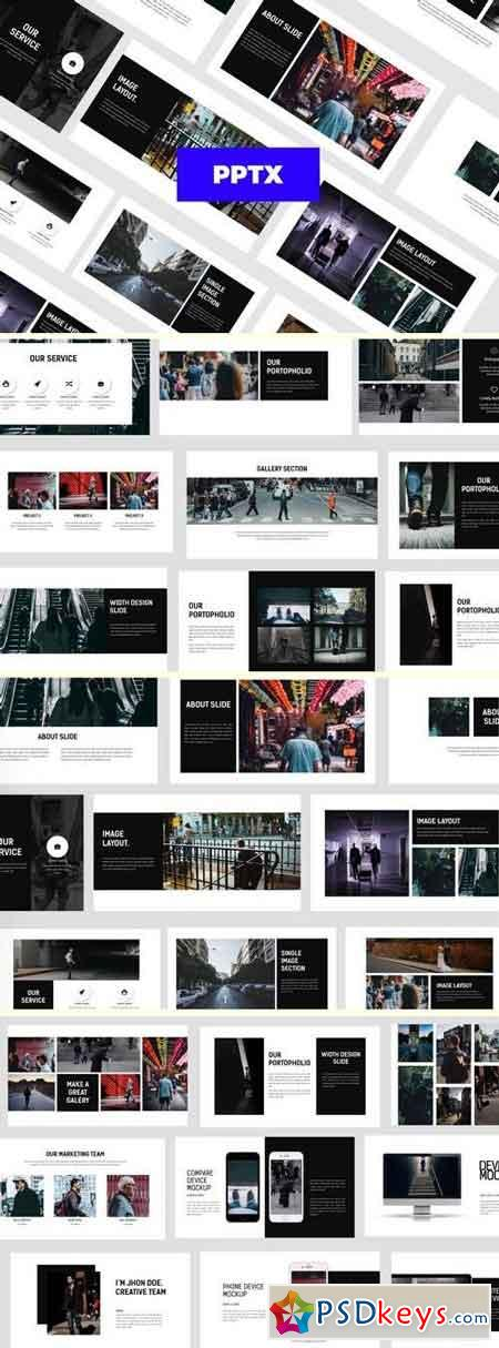 WALK -  - Powerpoint, Keynote Template