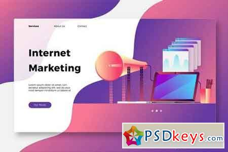 Internet Marketing - Banner & Landing Page