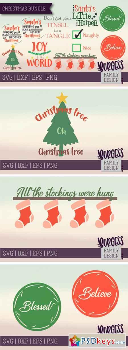 Christmas Bundle SVG DXF EPS PNG 124339
