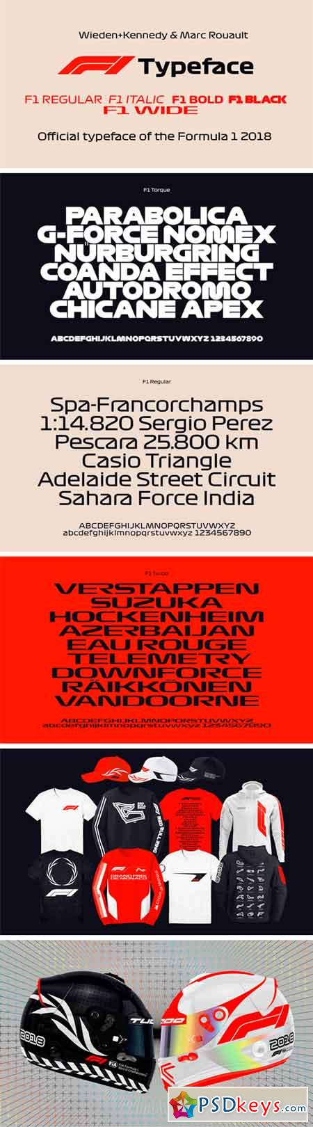 Formula 1 Display - Official Typeface of the Formula 1 2018