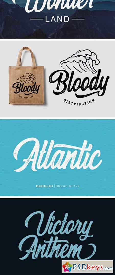 Hersley Typeface 35311