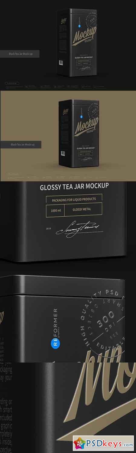 Black Tea Jar Mock-up 2912285