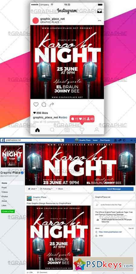 KARAOKE NIGHT – SOCIAL MEDIA VIDEO TEMPLATE