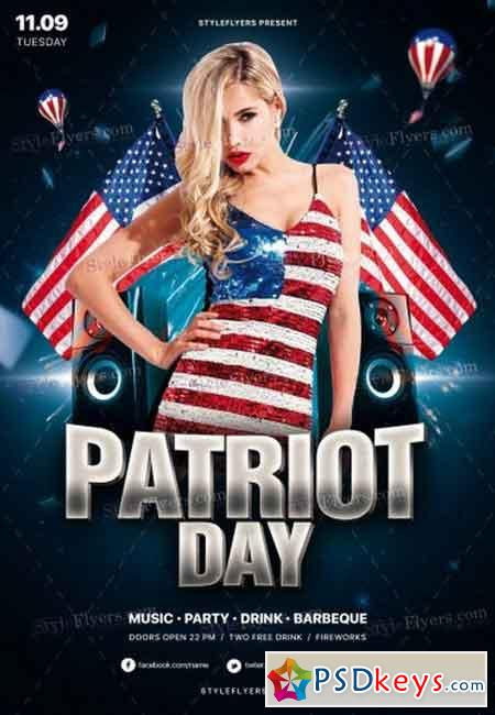 Patriot Day PSD Flyer Template