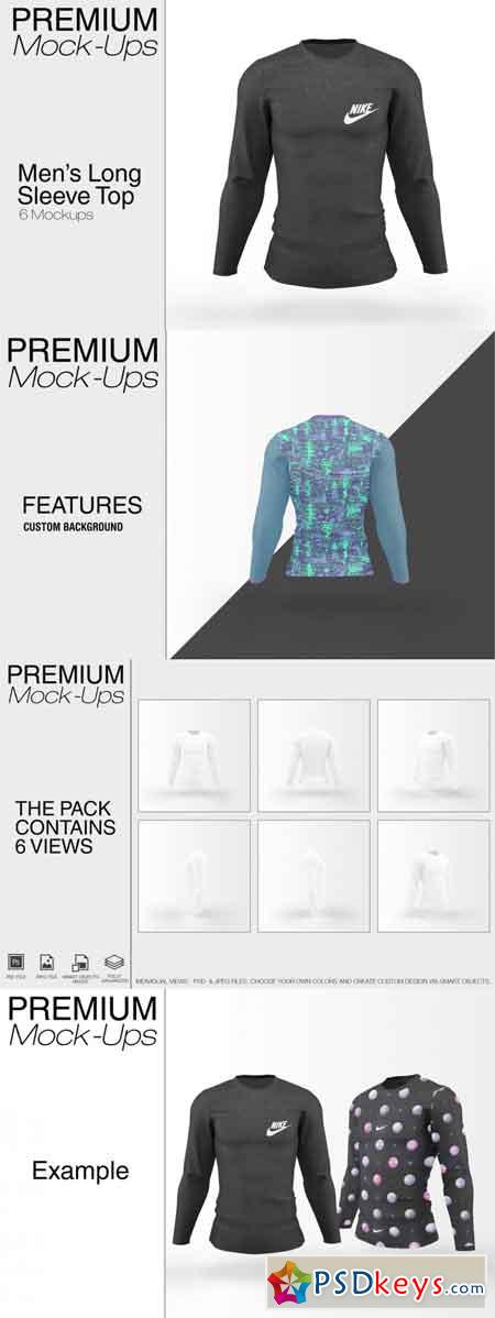 Long Sleeve Top Mockup Pack 3486233