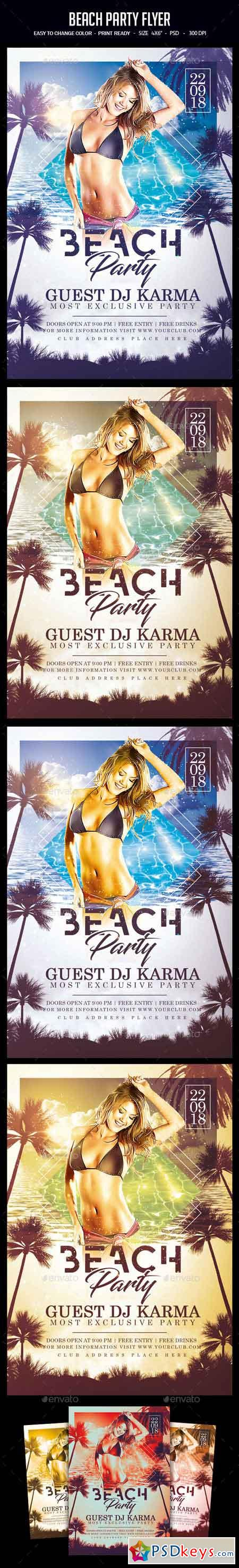 Beach Party Flyer 22541859