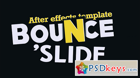 Fresh Animated Titles - Bounce n' Slide 10513014 After Effects Template