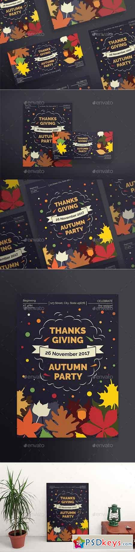 Thanksgiving Party Flyers 20652679
