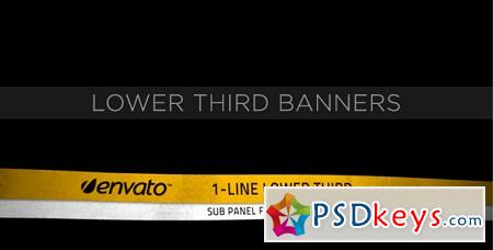 Lower Third Ribbon Banners 231556 After Effects Template