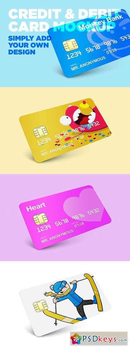 Credit & Debit Card Mockup 2782617