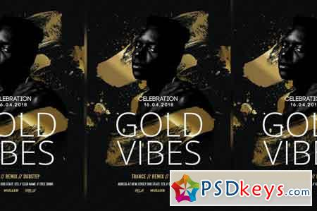 Gold Vibes Flyer Templates 3487444