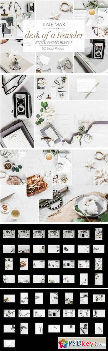 Desk of a Traveler Stock Photo Bundle 2898227