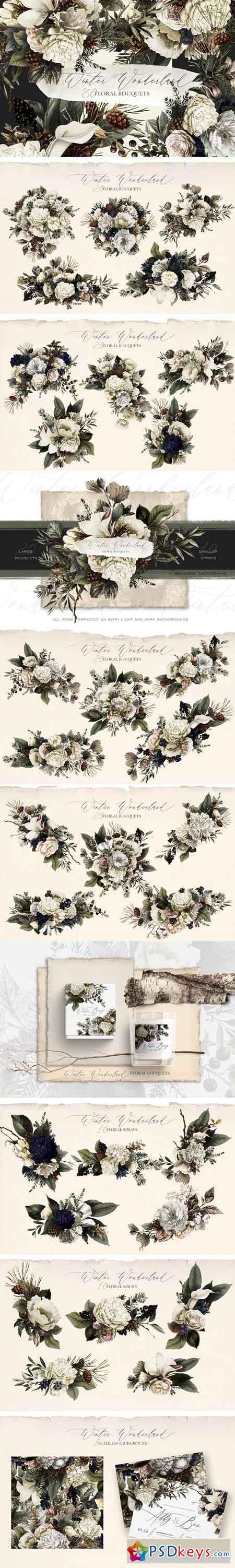 Winter Wonderland Floral Bouquets 2848096
