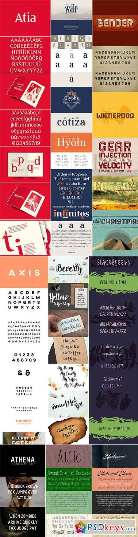 Mix Fonts Bundle 48