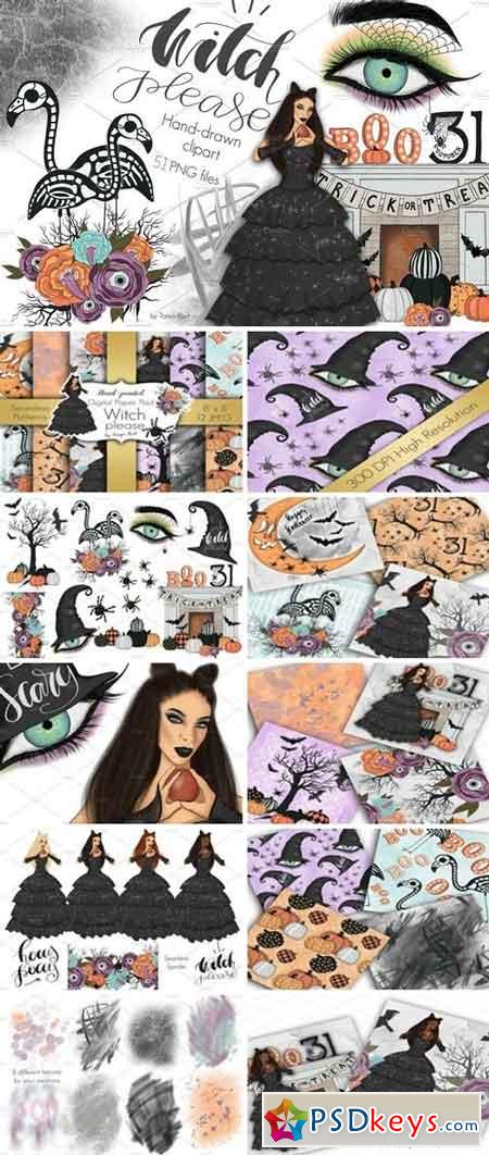 Witch Please Halloween Design Kit 2741107