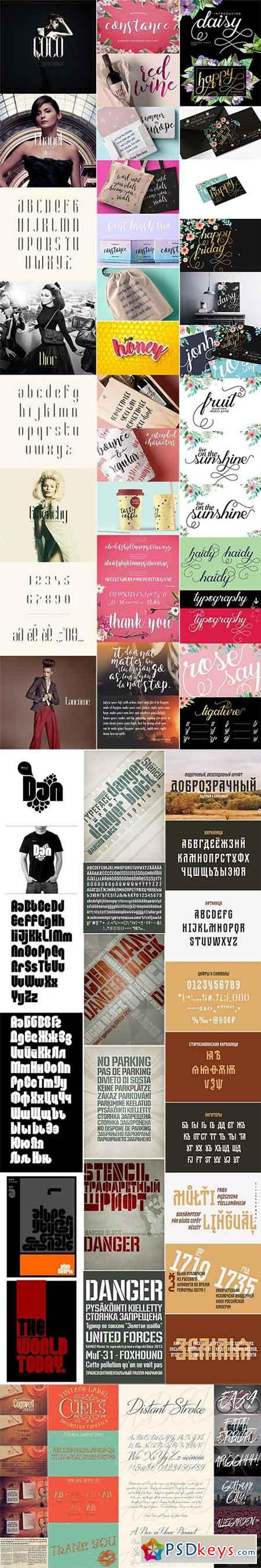 Mix Fonts Bundle 50