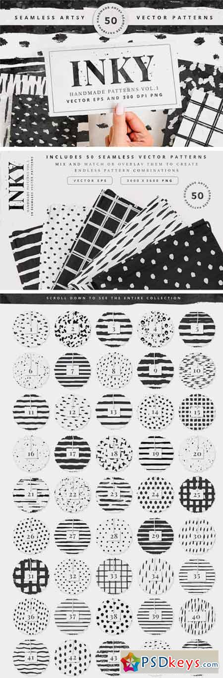 50 Seamless Vector Patterns Vol.1 2630219
