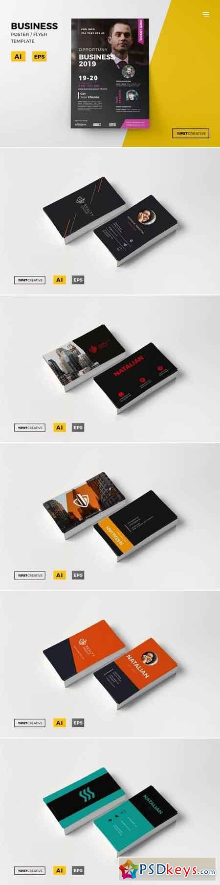 Business Flyer and Card Bundle
