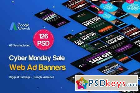 Cyber Monday Banners Ad - 126PSD