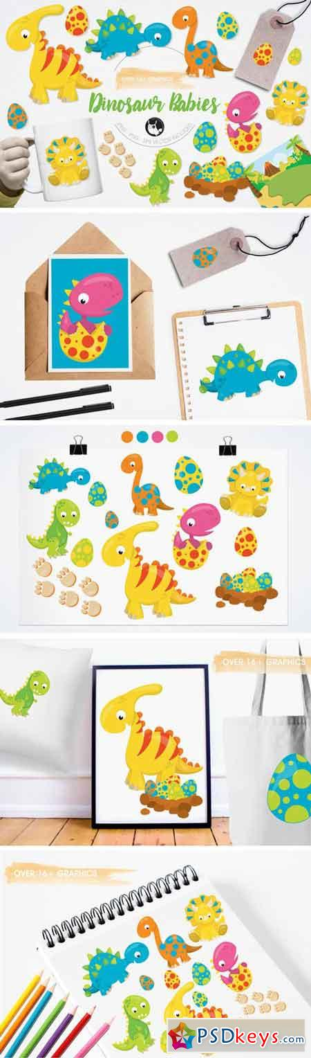 Dinosaur Babies Graphics and Illustrations 14670