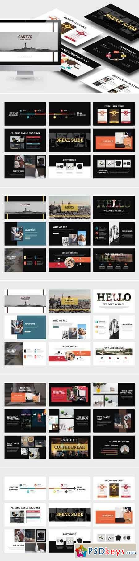 Ganevo Creative Studio Keynote Template