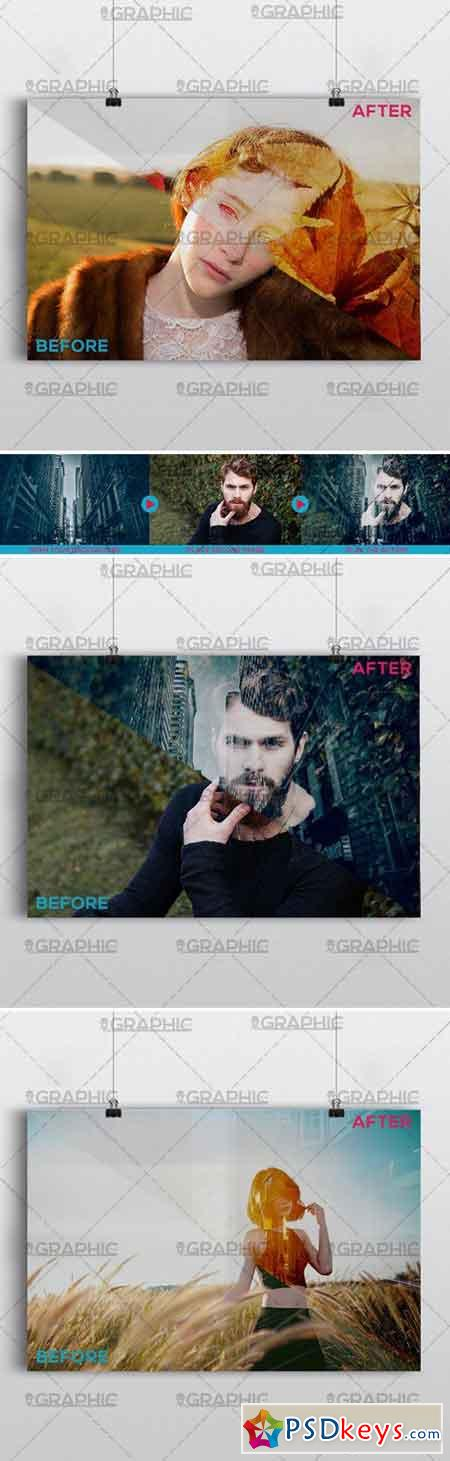 DOUBLE EXPOSURE – PREMIUM PHOTOSHOP ACTION
