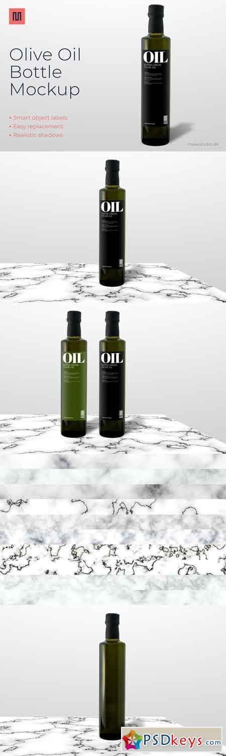 Olive oil - Bottle mockup 2796269