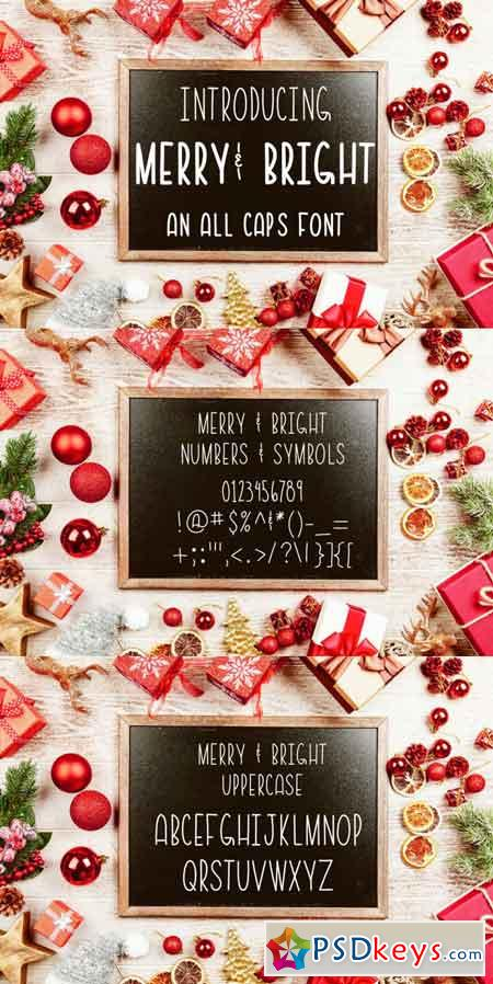 Merry & Bright All Caps Font 3488295