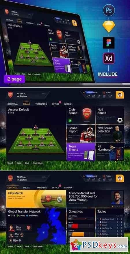 Football Dashboard Profile