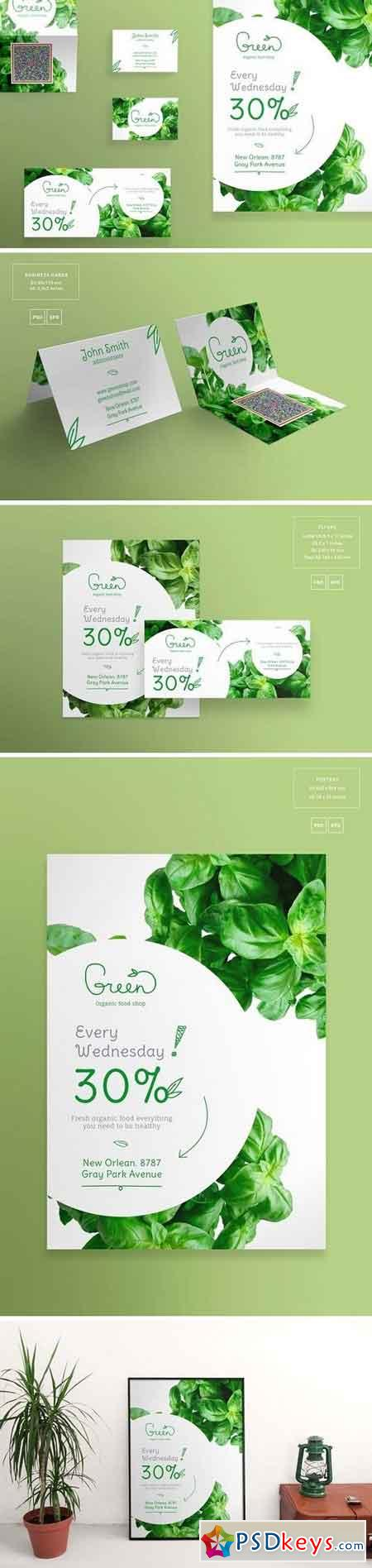 Print Pack Green Shop 1495549