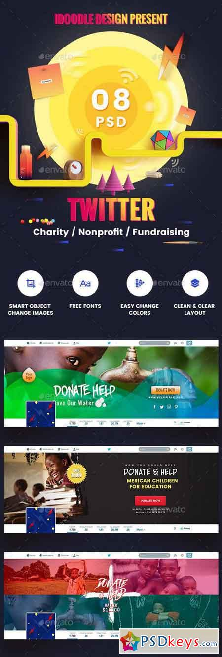 Charity Nonprofit Fundraising Twitter Headers - 08 PSD 18896694