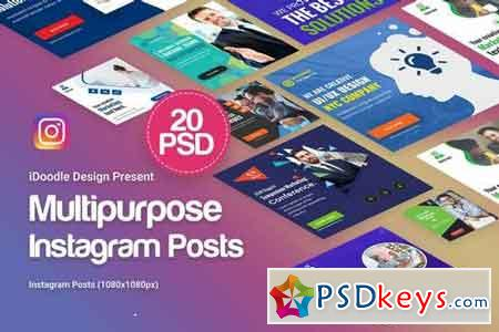 Creative Multipurpose Posts Instagram Ad - 20PSD