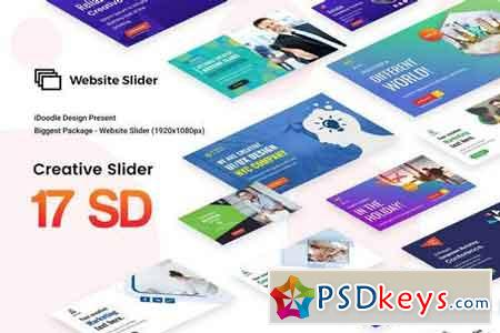 Creative Multipurpose Website Slider - 17 PSD
