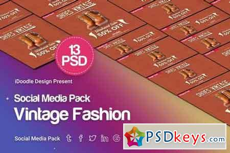 Social Media Pack - Vintage Fashion