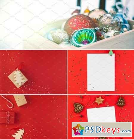 Stock Photos - Christmas greeting postcard mockup