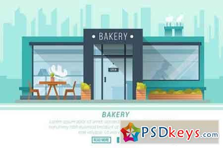Bakery - Vector Landscape & Building