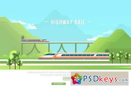 Highway Rail - Vector Landscape 2907308