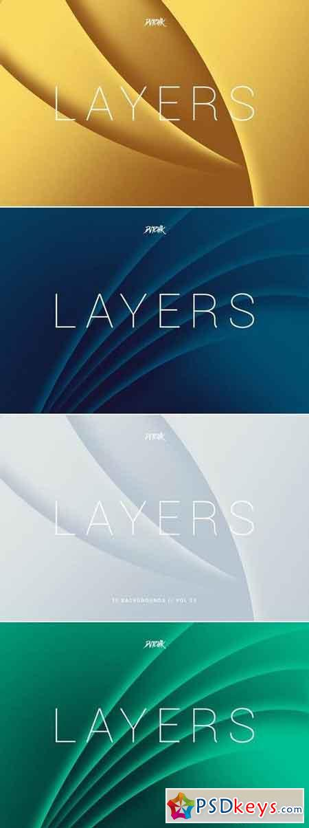 Layers Wavy Curves Backgrounds Vol. 03