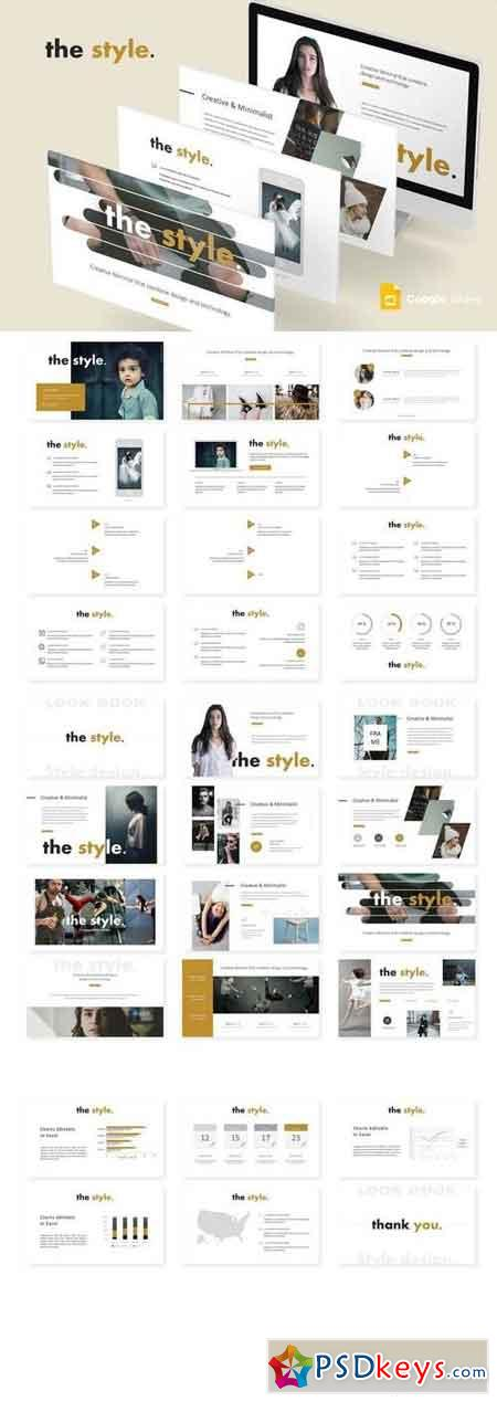 The Style - Powerpoint, Keynote, Google Sliders Templates